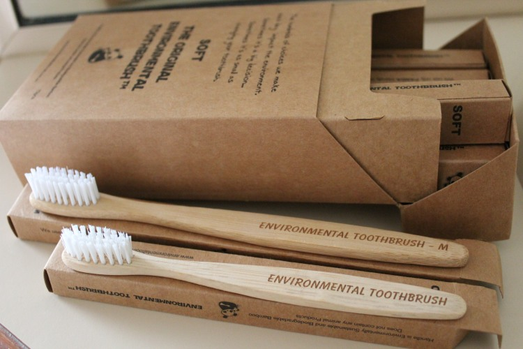Compostable bamboo toothbrushes are a fantastic alternative to plastic toothbrushes.
