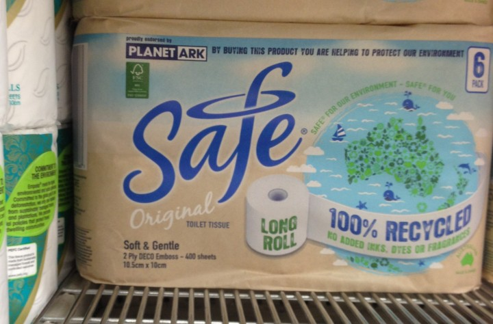 Safe toilet paper produced by Encore Tissue and endorsed by Planet Ark.