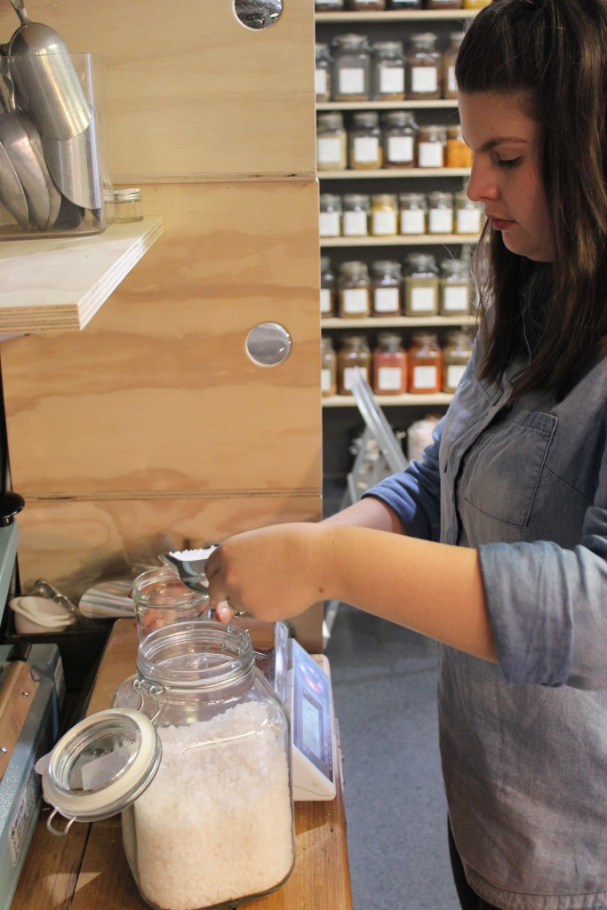 Using my jar to purchase my salt from String + Salt, Warragul.