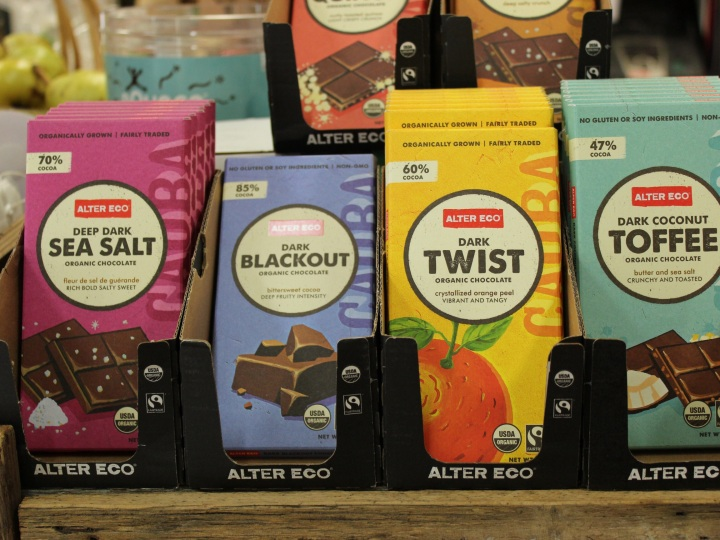 Plastic free, fair trade, organic chocolate