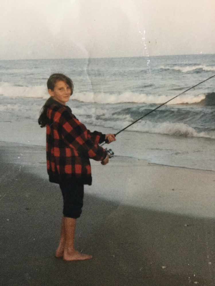 That's me fishing at the beach.