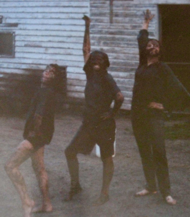 That's me on the right with two of my younger sisters. Were we too old for a mud fight? Clearly not!