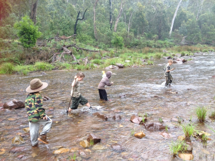 Persistent rain didn't stop the kids from exploring the environment and testing out their skills on our camping trip in the Alpine National Park.