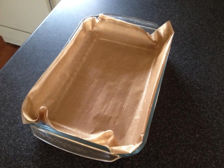 My Teflon baking sheet is a large so I folded it over to fit.