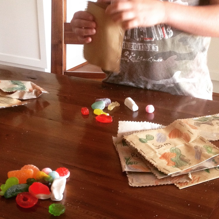 Making lolly bags