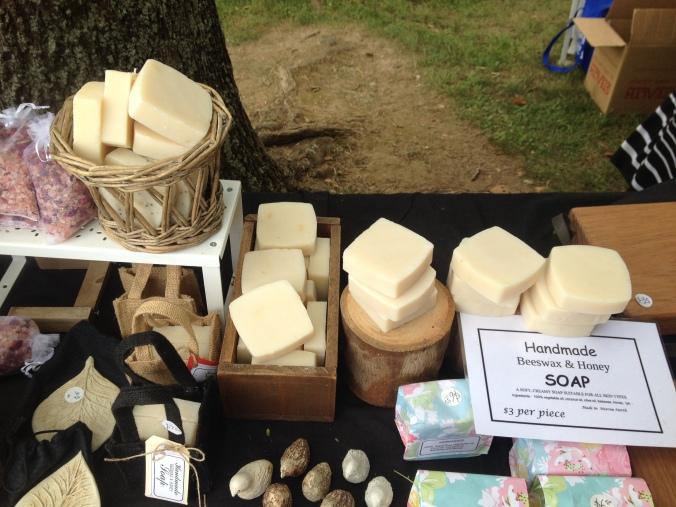 unpackaged soap at market
