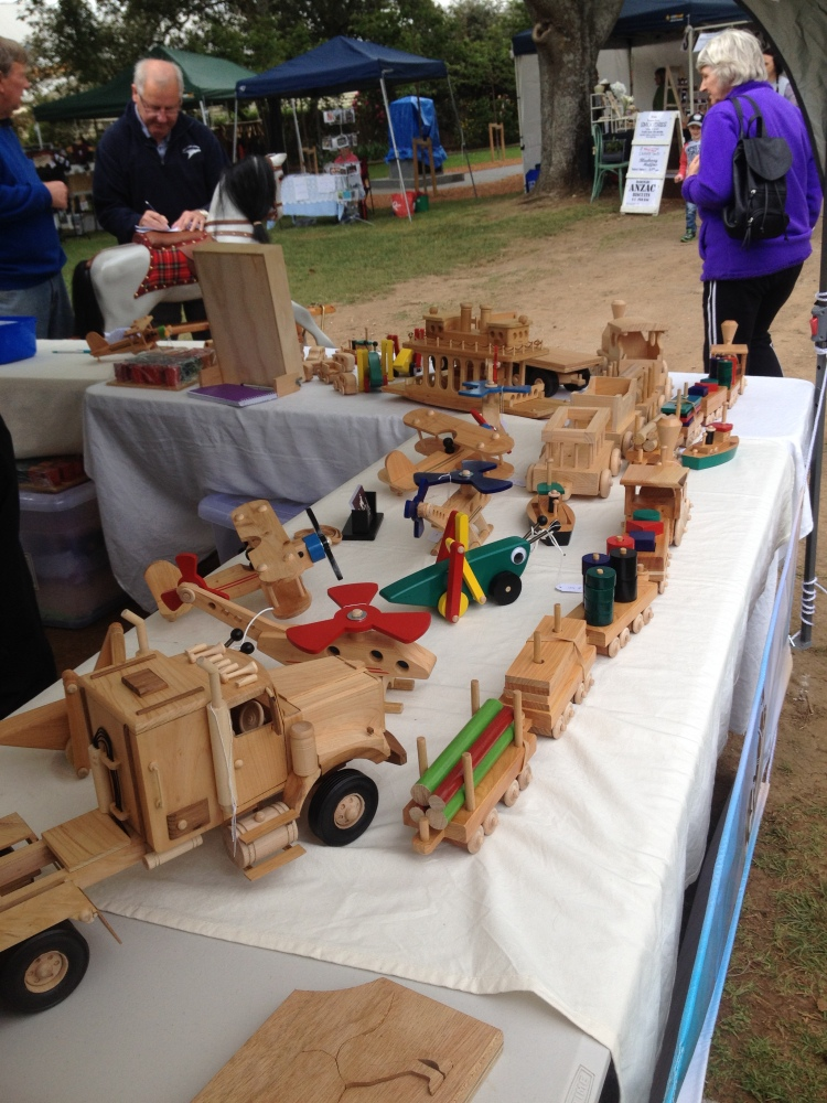 Wooden toys at the market