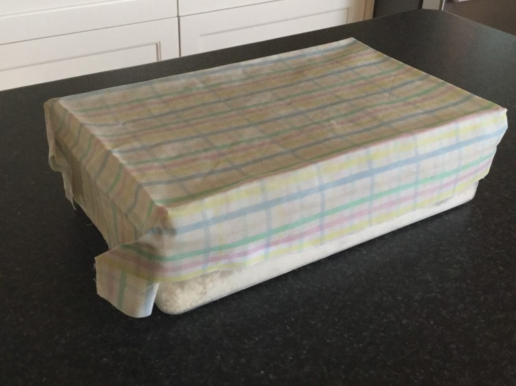 Homemade beeswax wrap to replace plastic cling wrap.
