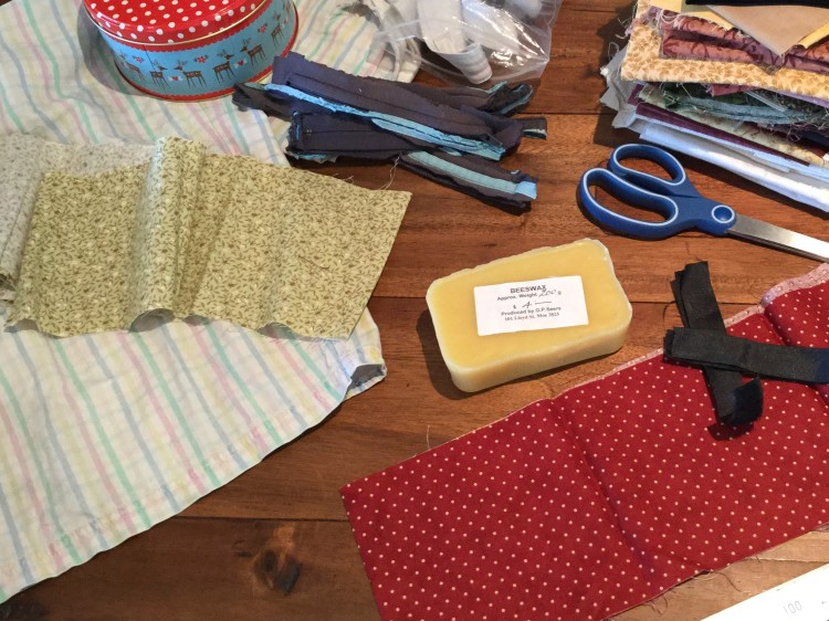 Materials for making beeswax wraps.