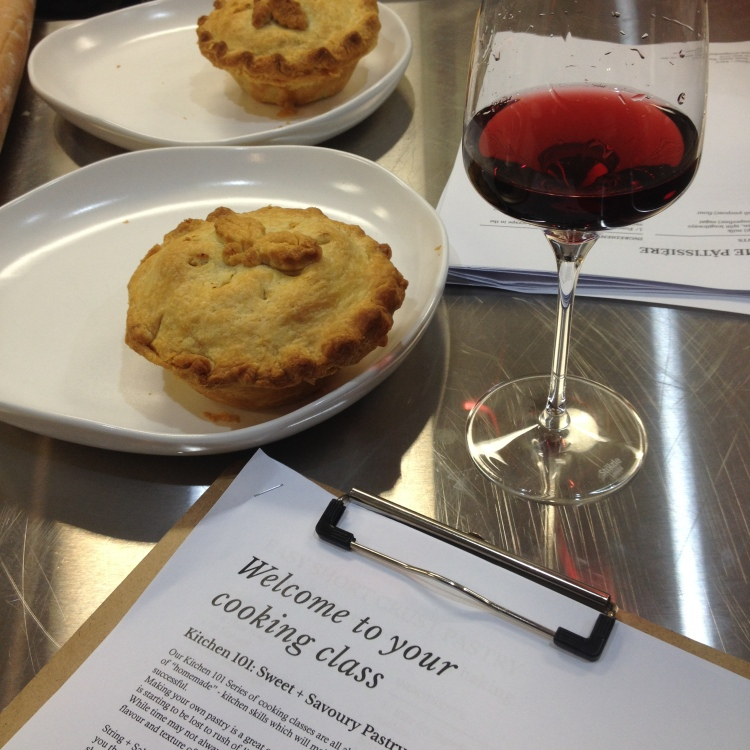 I enjoyed a sneaky glass of wine towards the end of the cooking class.
