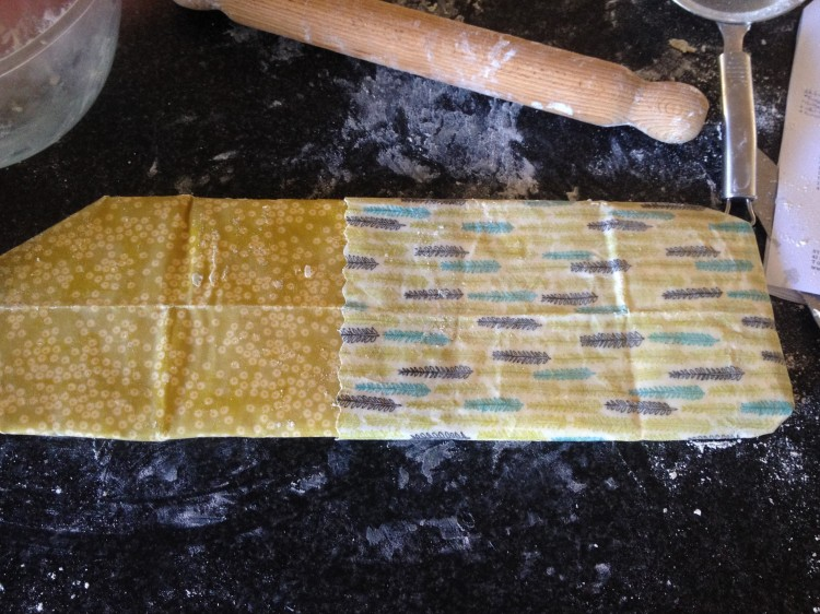 I used my beeswax wraps for resting the pastry in the fridge.