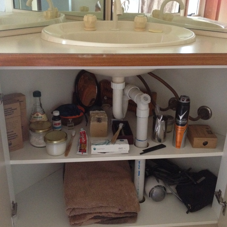 Our bathroom cabinet.