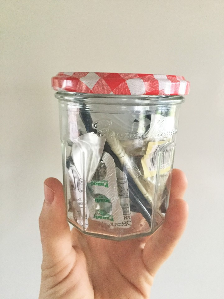 Jam Jar of Waste