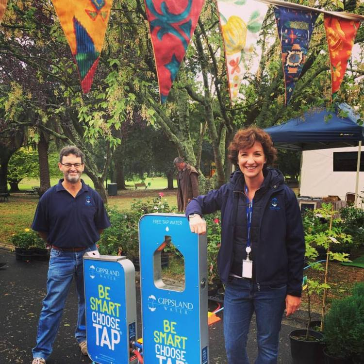 Gippsland Water staff encourage people to choose tap.