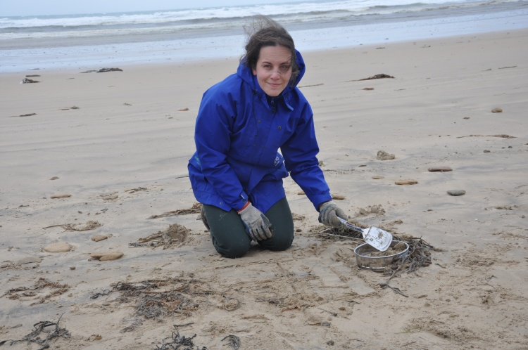 Parks Victoria Ranger Tamara Vekich at Cotters Beach, Wilsons Promontory.