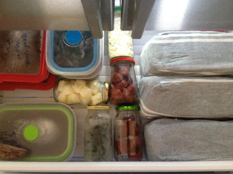 Inside my freezer.