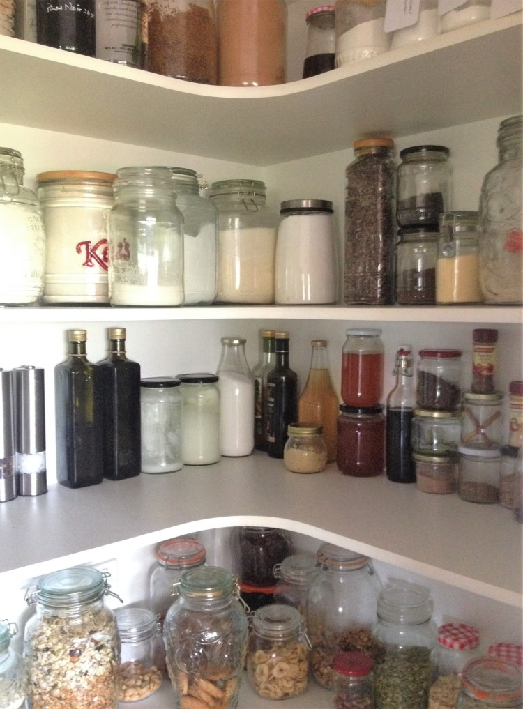 Inside my pantry.