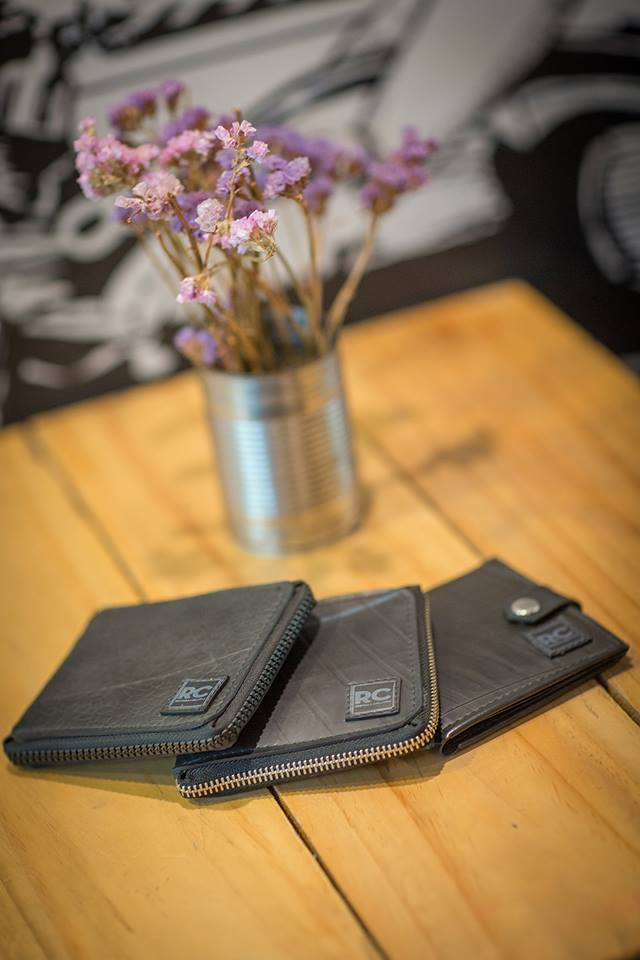 Recycle Creative Wallets made from inner tyre tubes.
