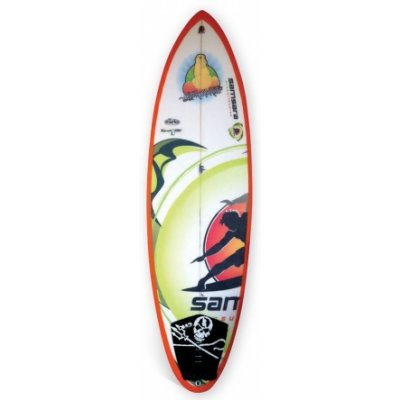 A Samsara Surfboard. These custom made boards are nearly 100% eco-friendly and Samsara Surfboards are one of the leading Eco friendly board manufacturers in Australia.