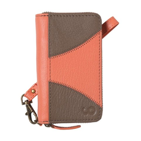 Upcycled leather phone case. by Looptworks.