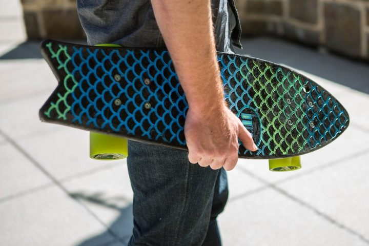 Bureo Skateboard made from recycled fish netting.