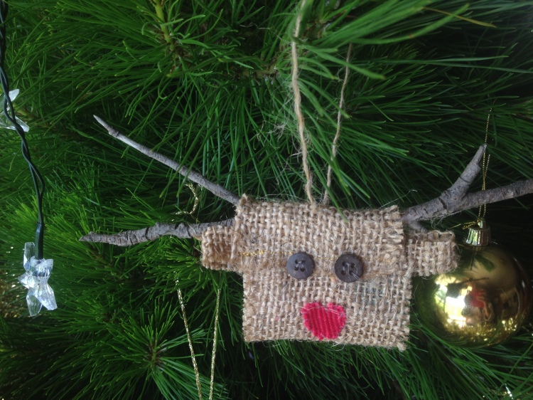 Homemade Christmas tree decoration