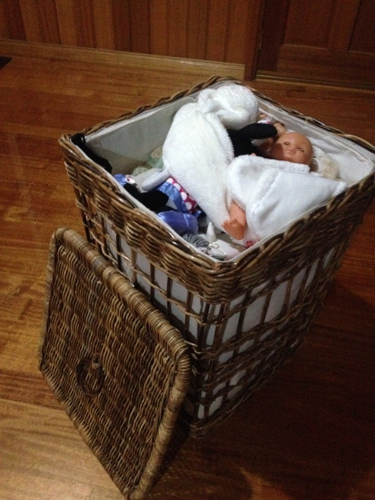 Pack toys into a laundry basket when moving house to reduce waste.
