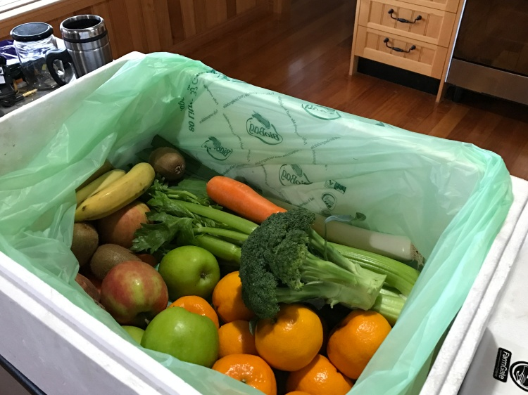 Fundraising That Reduces Waste And Much More - box of fruit and vegetables.
