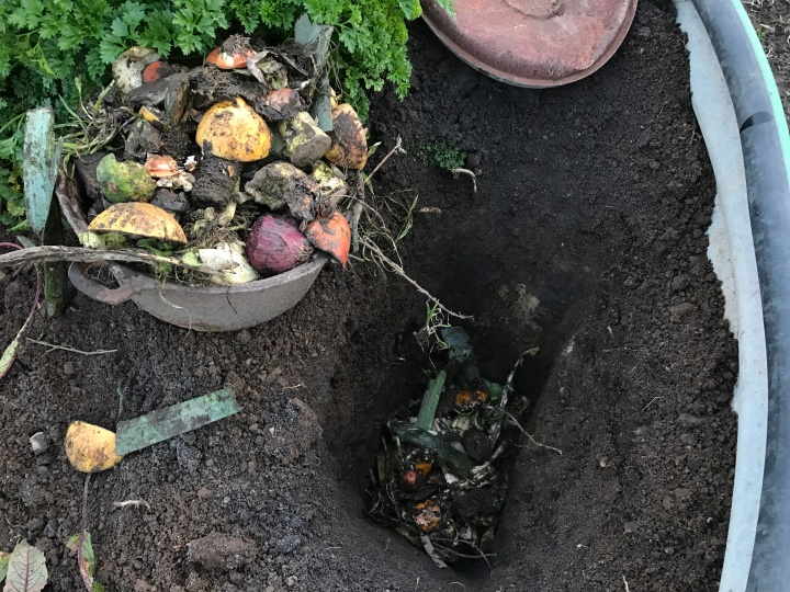 Dig and drop composting