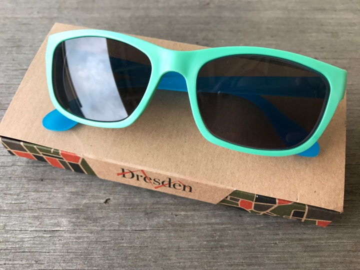 Dresden sunglasses made from recycled milk bottle tops and beer keg caps