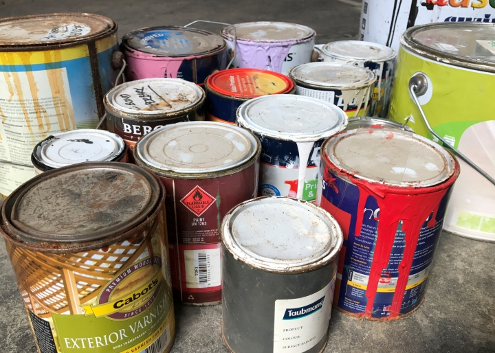 Recycle you old paint and paint packaging