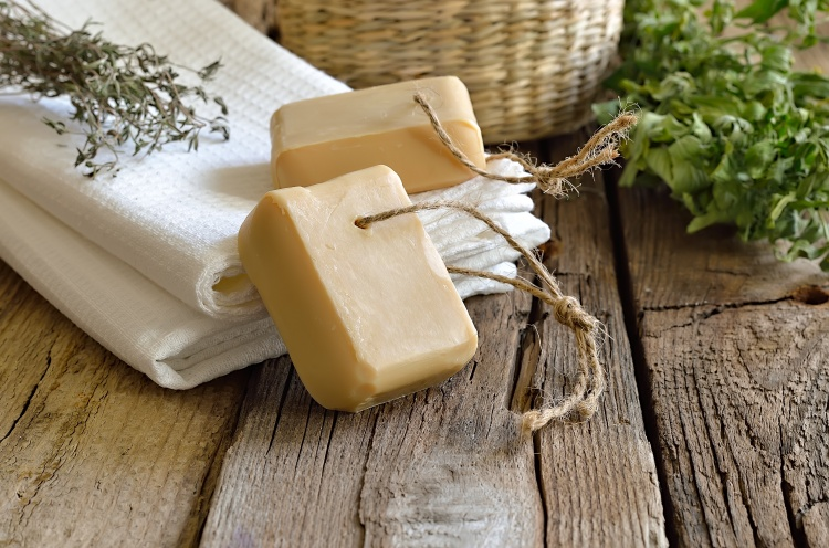 Natural soap used for household cleaning and personal care