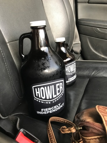 Filling up my Howler Growlers while in town.
